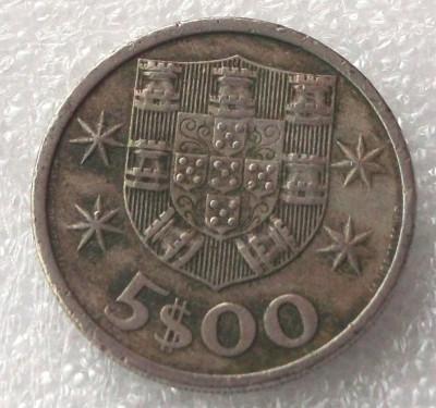 P2. PORTUGALIA 5 ESCUDOS 1972 ** foto