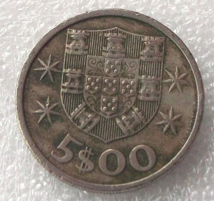 P2. PORTUGALIA 5 ESCUDOS 1972 ** foto mare