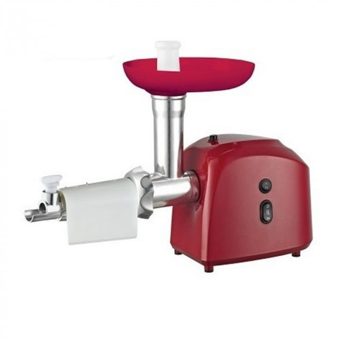 Masina de tocat Victronic, accesorii rosii si carnati, 1200 w, rosu, mg 239 foto mare