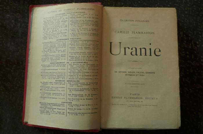 Uranie  de Camille Flammarion  Ed. Ernest Flammarion 1922 foto mare
