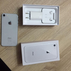 Iphone 8 - Telefon iPhone Apple, Argintiu, 64GB, Neblocat