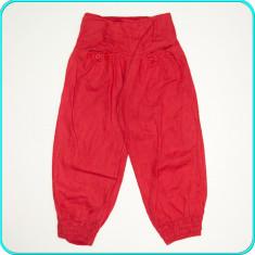 DIN IN → Pantaloni ¾ subtiri, aerisiti, de calitate, frumosi → fete | marimea 34, Rosu