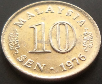 Moneda 10 Sen - MALAEZIA, anul 1976  *cod 1988 foto