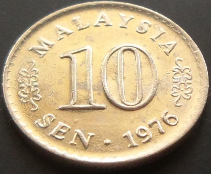 Moneda 10 Sen - MALAEZIA, anul 1976  *cod 1988 foto mare