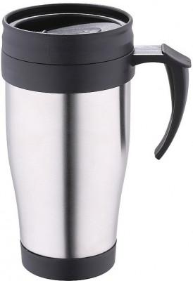 Termos tip cana, inox. 400 ml, renberg, negru foto