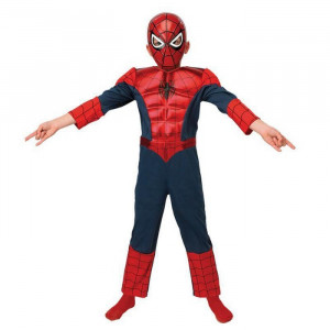 Costum Ultimate Spiderman Deluxe copii 7-8 ani - Carnaval24