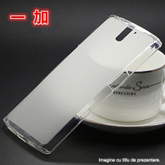 Husa de protectie noua OnePlus One Silicon TRANSPARENTA ( folie sticla separat) - Husa Telefon