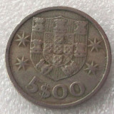 P2. PORTUGALIA 5 ESCUDOS 1966 **, Europa