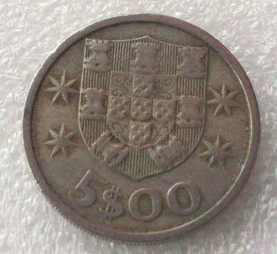 P2. PORTUGALIA 5 ESCUDOS 1966 ** foto