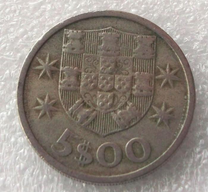 P2. PORTUGALIA 5 ESCUDOS 1966 ** foto mare