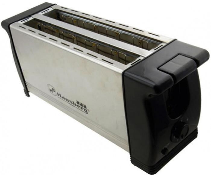 Prajitor de paine Hausberg inox, 4 Felii, 1200W, oprire automata, 6 trepte de putere foto mare