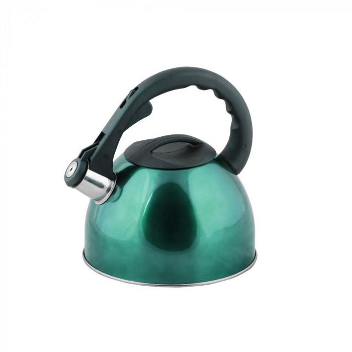 Ceainic din inox 2.5l, peterhof, verde foto mare