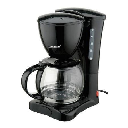 Filtru de cafea, oprire automata, Hausberg, 1.2 l, 1200 W, Negru foto mare