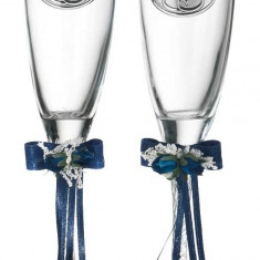 Set 2 pahare sampanie aniversare 25 ani casatorie Valenti, Cod Produs:2224 - Figurina/statueta
