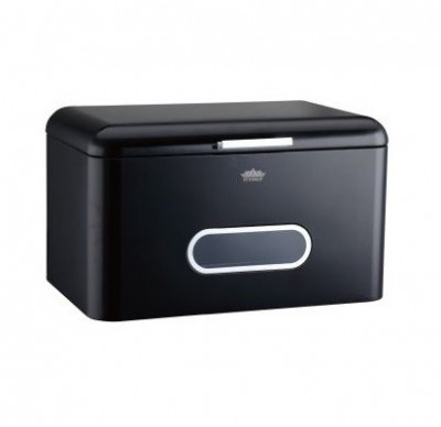 Cutie paine metalica, peterhof, 35x22x24 cm, negru foto