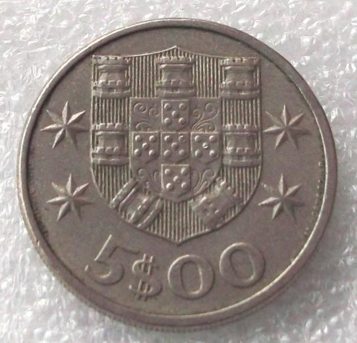 P2. PORTUGALIA 5 ESCUDOS 1981 ** foto mare
