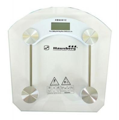 Cantar digital Hausberg, 150 kg, LCD, platforma sticla foto