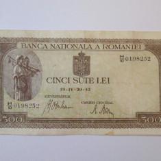 Romania 500 Lei 1942 - Bancnota romaneasca
