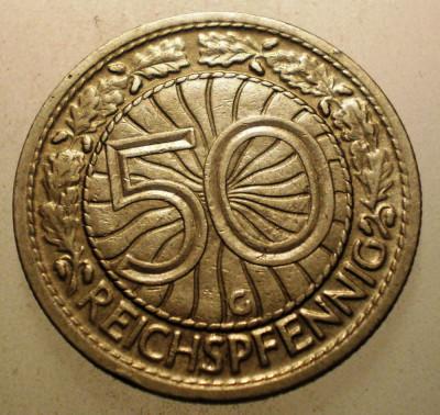 2.800 GERMANIA WEIMAR 50 REICHSPFENNIG 1928 G foto
