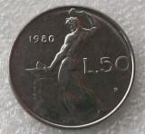 P2. Italia 50 Lire 1980 **, Europa