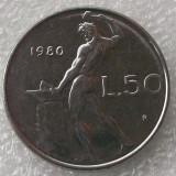 P2. Italia 50 Lire 1980 **, Europa, An: 1977