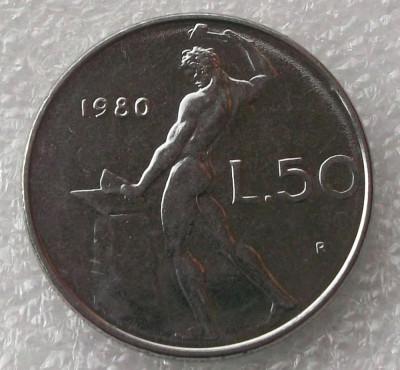 P2. Italia 50 Lire 1980 ** foto
