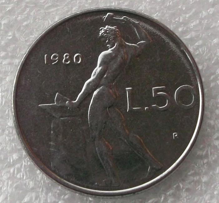 P2. Italia 50 Lire 1980 ** foto mare