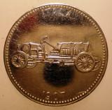 2.835 GERMANIA JETON AUTO AUTOMOBIL ITALA 1907 30mm