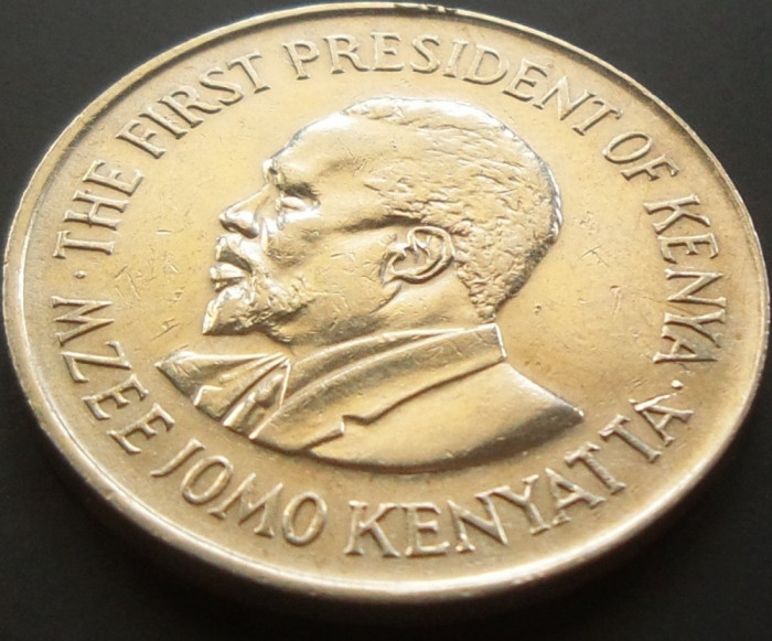 Moneda 1 Shilling - KENYA, anul 1975 *cod 5017 foto mare