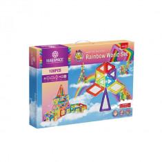Joc Magnetic Rainbow World Set 128 piese Mumu Toys - Instrumente muzicale copii