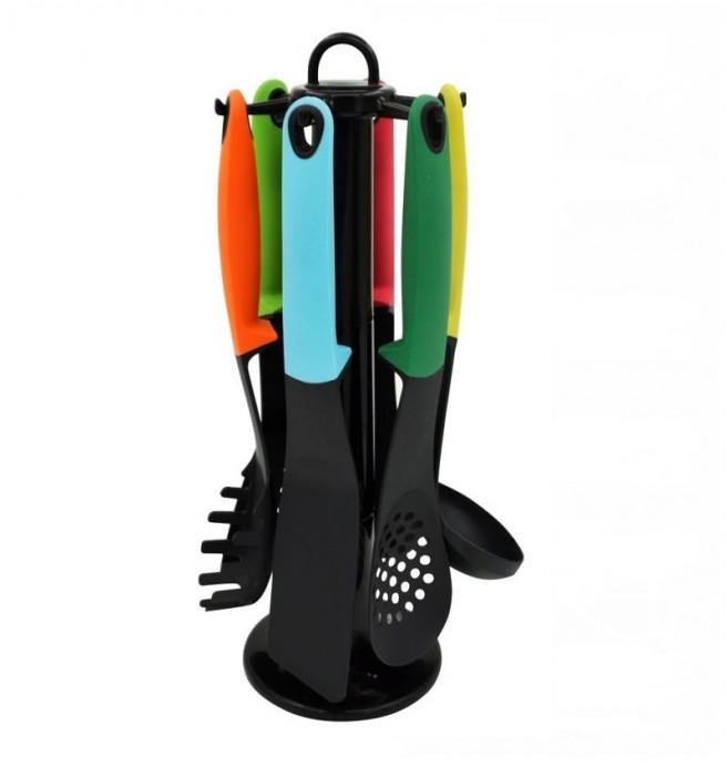Set 7 ustensile de bucatarie Grunberg, Plastic, Multicolor, GR 399 foto mare