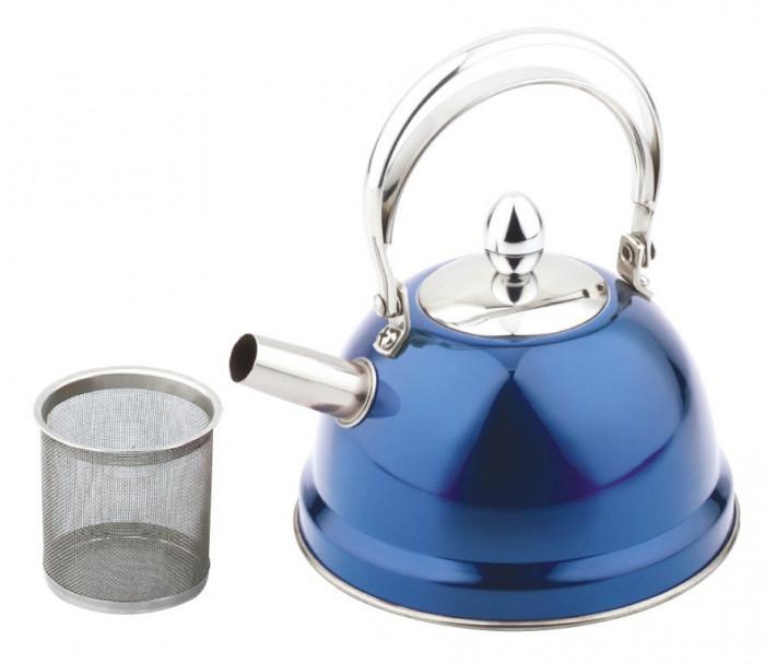 Ceainic inox 0.7 l, peterhof, albastru foto mare