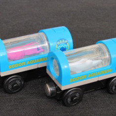 Thomas and Friends ✯ Wooden Railway ✯SHARK and SQUID CAR ✯ Magnetic Vagons✯ 2003 - Trenulet, Locomotive