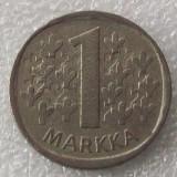 P2. Finlanda 1 Markka Marca 1973 **, Europa