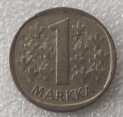 P2. Finlanda 1 Markka Marca 1973 ** foto