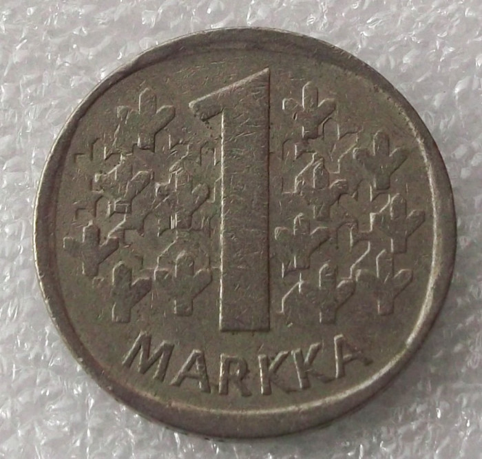 P2. Finlanda 1 Markka Marca 1973 ** foto mare