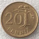 P2. Finlanda 20 pennia 1980 **, Europa