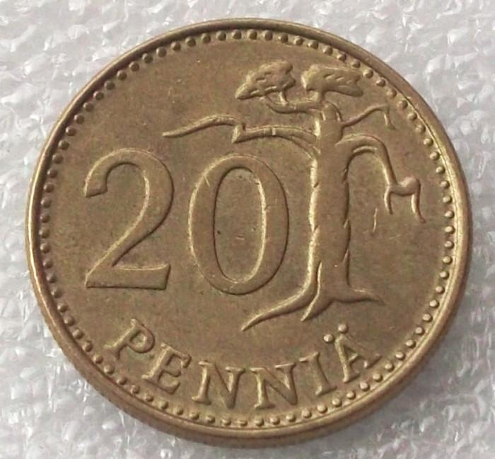P2. Finlanda 20 pennia 1980 ** foto mare