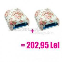 2 x Lampă UV cu 4 becuri, model floral - preț special - Lampa uv unghii