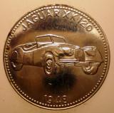 2.836 GERMANIA JETON AUTO AUTOMOBIL JAGUAR XK 120 1948 30mm