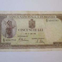 Romania 500 Lei 1943 - Bancnota romaneasca