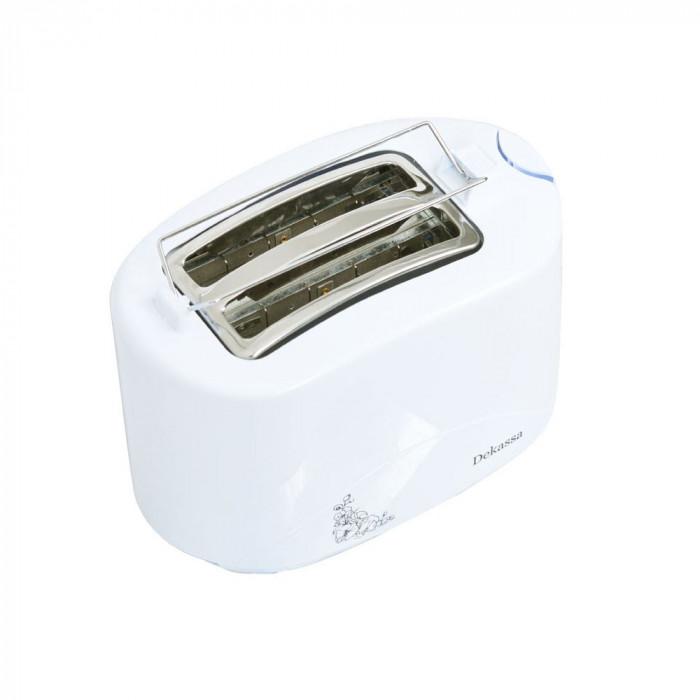 Prajitor de paine Dekassa, 750 W, 2 felii, Alb, 7 nivele foto mare