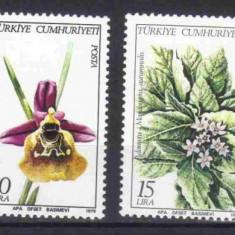 TURCIA 1979, Flora, serie neuzata, MNH - Timbre straine, Nestampilat