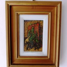 ION MANDRU (1897-1980), ulei pe panza, rama originala lemn - Pictor roman, Scene gen, Pointillism