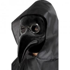 Masca Doctor Ciuma Negru - Carnaval24