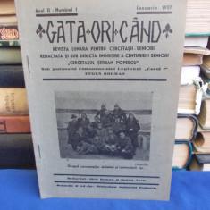 GATA ORICAND * REVISTA LUNARA PENTRU CERCETASII SENIORI -  IANUARIE 1937