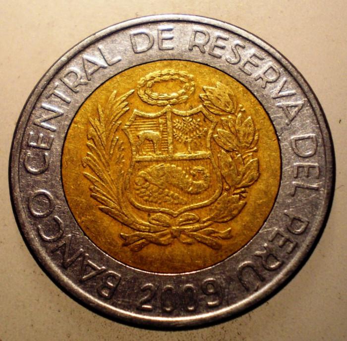 2.792 PERU 5 NUEVOS SOLES 2009 BIMETAL foto mare