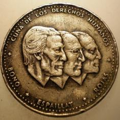 2.803 REPUBLICA DOMINICANA 1/2 PESO 1986, America Centrala si de Sud, Cupru-Nichel