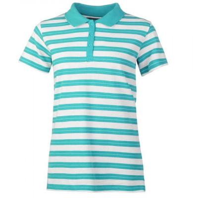 Oferta! Tricou Polo Dama Miso Stripe Turquoise - original foto