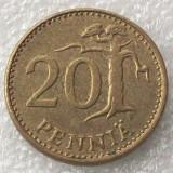 P2. Finlanda 20 pennia 1982 **, Europa